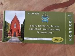 Lithuania     Tishkevich Chapel - Mausoleum 2019 Ticket - Tickets - Vouchers