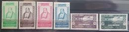 E1119 - Lebanon 1943 SG 252-257 Complete Set 5v. Mint Hinged - Emir Bechir - Independence - Lebanon