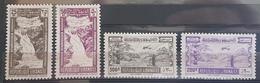 E1119 - Lebanon 1945 SG 294-297 Complete Set 4v. Mint Hinged - Falls Of Litani & Skier - Lebanon