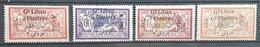 E1119 - Lebanon 1924 Complete Set 4v. Mint Hinged, AVION Bilingual - Lebanon