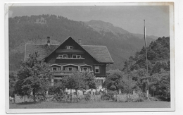 (RECTO / VERSO) BLUDENZ EN 1951 - HOTEL PENSION HOHER FRASSEN - BEAU TIMBRE - CARTE PHOTO FORMAT CPA VOYAGEE - Bludenz