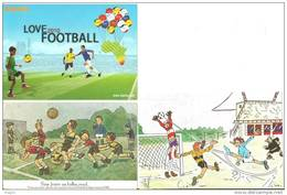 Football Humo 3 Cp + Un Tp : FOOTBALL Foot Sport à MEZE 34 (Fongaro S.)+ CPA + Carte Publicitaire Humoristique - Calcio