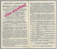 En 1946 Neuve Eglise (59)  Conseiller Communal Jules OLLIVIER Ep Maria DELERUE- Actions Catholiques - Décès