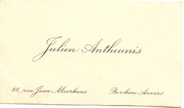 Visitekaartje - Carte Visite - Julien Antheunis - Anvers - Antwerpen - Visitenkarten