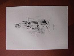 Réunion: Document De 1843 «Mulatresse (Bourbon)» Edition En Noir Et Blanc - Documents Historiques