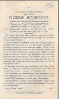 Izegem, 1945, Florine Bourgeois, Vandommele - Images Religieuses
