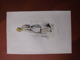 Réunion: Document De 1843 «Mulatresse (Bourbon)» Edition En Couleur - Documents Historiques