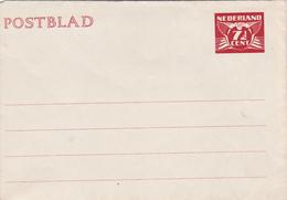Entier Postal Stationery - Postblad - Nederland - 7cent1/2 Rouge - Entiers Postaux