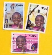 UGANDA - Stamp Set 2003 2nd Birthday Of Princess Katrina - Sarah Of Uganda - MNH OUGANDA (3 Values) - Uganda (1962-...)