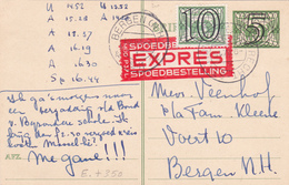 Nederland - Entier Postal Stationery - E.P + Timbre N° 350 - Express - 1941 - Entiers Postaux