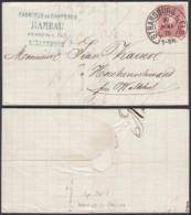 """ALSACE  LETTRE AFFR ALLEMAND OBL """"STRASSBOURG.I.ELS"""" 20/05/1875 (8G35203) DC-3893 - Alsace-Lorraine"""