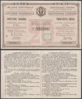 FRANCE BILLET DE LOTERIE COLONIALE 11 Frs 1934  (DD) DC-3900 - Andere