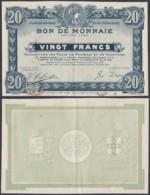 FRANCE BILLET VILLES DE ROUBAIX ET TOURCOING 20 Frs 1916 (DD) DC-3903 - Bons & Nécessité