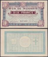 FRANCE BILLET VILLES DE ROUBAIX ET TOURCOING 10 Frs 1916 (DD) DC-3904 - Bons & Nécessité