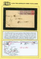 BELGIQUE COB 138+140 X3 SUR LETTRE EXPRES DE BRUXELLES 22/12/1927 VERS WAREMME  (DD) DC-3907 - 1915-1920 Albert I