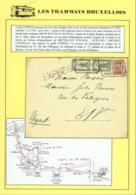 BELGIQUE COB 140+164 X2 SUR LETTRE EXPRES 28/11/1920 DE BRUXELLES DEPOSE DANS UNE BOITE DE TRAM  (DD) DC-3912 - 1915-1920 Albert I
