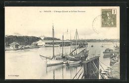 AK Saigon, L`Arroyo Chinois Et Le Pont Tournant, Drehbrücke - Viêt-Nam