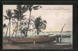 AK Tourane, La Rivière Devant La Direction Des Douanes, Boote - Vietnam