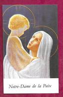 IMAGE PIEUSE...VIERGE à L'ENFANT..Grande Neuvaine De L'Immaculée Conception En 1984..2 Scans - Images Religieuses