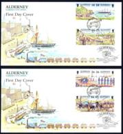 Alderney Sc# 107a-113a (Assorted) FDC Set/2 1997 Garrison Island Part I - Alderney
