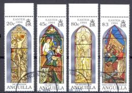 Anguilla Sc# 909-912 SG# 945/948 Used 1994 Easter - Anguilla (1968-...)