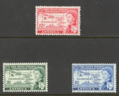 Antigua Sc# 122-124 MNH 1958 West Indies Federation - 1858-1960 Crown Colony