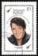 Antigua Sc# 1047A SG# 1138 Used 1987 Elvis Presley/10th Anniversary - Antigua And Barbuda (1981-...)