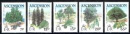 Ascension Sc# 363-367 MNH 1985 Trees - Ascension