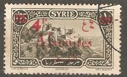 Alaouites: One Used Stamp, Double Overprint, 1926/1928, Mi#49 - Postzegels