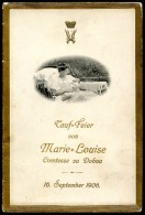 Marie-Louise, Comtesse Zu Dohna, Taufe, Menükarte, 16.9.1906,Gräfin, Schlodien - Menükarten