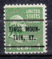 USA Precancel Vorausentwertung Preo, Locals Kentucky, Kings Mountain 714 - Vereinigte Staaten