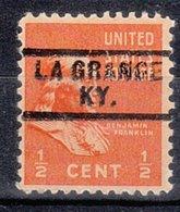 USA Precancel Vorausentwertung Preo, Locals Kentucky, La Grange 729 - Vereinigte Staaten