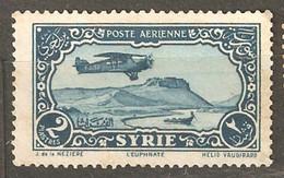 Syria: One Used Stamp, Aircraft Over Euphrat, 1931/33, Mi#359 - Syrië