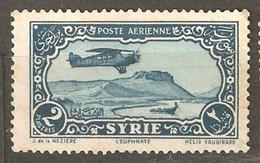 Syria: One Used Stamp, Aircraft Over Euphrat, 1931/33, Mi#359 - Siria