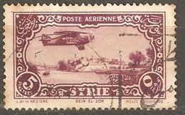 Syria: One Used Stamp, Aircraft Over Deir-el-Zor, 1931/33, Mi#361 - Syrië