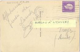 LOURDES HAUTES PYRENEES (BUREAU À L'ENVERS) OMec FRANKERS 7 LIGNES ONDULÉES Du 23 VIII 1945 - Sellado Mecánica (Otros)