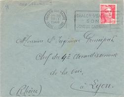 CHALON-SUR-SAONE SAONE-ET-LOIRE OMec FRANKERS-SECAP 19-1-1948 CHALON-s/SAONE / SON / JOYEUX CARNAVAL - Marcofilia (sobres)