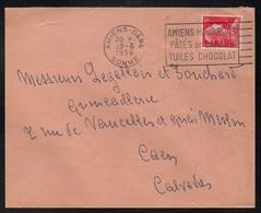 CHOCOLAT - CACAO - COCOA - CHOCOLATE / 1956 AMIENS - OBLITERATION SECAP SUR LETTRE (ref 1528) - Levensmiddelen