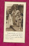 IMAGE PIEUSE...Communion De Jacqueline LEGENTIL, Eglise De DOMFRONT (61) En 1936...2 Scans - Images Religieuses