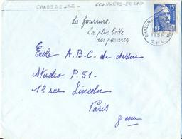 SAONE-ET-LOIRE : CHALON-SUR-SAONE Ppal S. ET L. OMec FRANKERS-SECAP 18-10-1956 LA FOURRURE / LA PLUS BELLE / DES PARURES - Marcofilia (sobres)