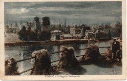 Torino - Villaggio Medioevale ( Notturno ) - Fp Vg 1930 - Altri