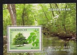 2011 Azerbaijan Aserbaidschan Bl. 99 A **MNH Europa : Der Wald - 2011