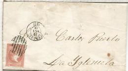 ENVUELTA DE 1858 TERUAL A LA IGLESUELA - 1850-68 Reino: Isabel II
