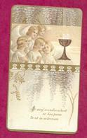 IMAGE PIEUSE...Communion De Charlotte MONDIN, Eglise De CHAMPSECRET (61) En 1921...2 Scans - Images Religieuses