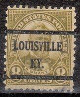 USA Precancel Vorausentwertung Preo, Bureau Kentucky, Louisville 640-43, Stamp Defect - Vereinigte Staaten