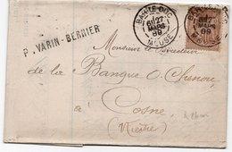 1889 - Griffe P.VARIN-BERNIER - Lettre Pour COSNE (Nièvre) Avec Cachet BAR LE DUC (Meuse) Sur Type Sage YT 80 - Marcofilia (sobres)