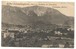 SCHNEEBERGBAHN HOTEL - AUSTRIA, PUCHBERG In SCHNEEBERG, OLD PC - Schneeberggebiet