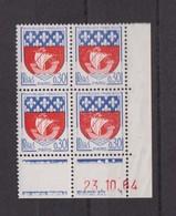 COINS DATES 1964 ARMOIRIES DE VILLES  30C  BLEU ET ROUGE - Esquina Con Fecha