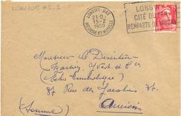LONGWY-BAS MEURTHE-ET-MOSELLE OMec FRANKERS-SECAP FLAMME DROITE 15-2-1950 LONGWY / CITÉ DU FER / REMPARTS VAUBAN - Mechanical Postmarks (Advertisement)