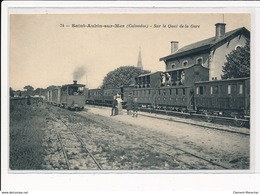 SAINT-AUBIN-sur-MER : Sur Le Quai De La Gare - Tres Bon Etat - Autres Communes